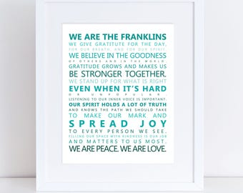 Gratitude/Family Sign - Inspirational, Custom, Home Decor/Wall Hanging