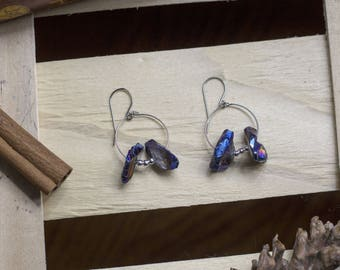 """cute pair of earrings """"crystal"""" witch - pagan - Crystal - magical - esoteric - Gothic - witchcraft - fairy"""