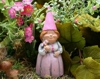Female Gnome - Lady Lawn Gnomes - Customized Just For You