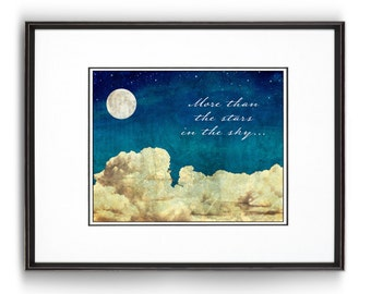 """Nursery Decor and Wall Art - """"More Than The Stars In The Sky"""""""