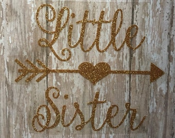 Big Sister OR Little Sister Iron on Decal/ Big, Sister, Little Mister Iron on Decal/ Sibling Matching Iron on Decals for shirts