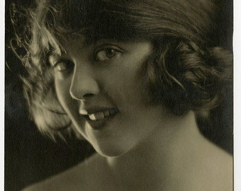 Vintage 1920 Flapper Photograph George White's Scandals of Broadway Christine Welford Theatre Actress Pictorialist Beauty