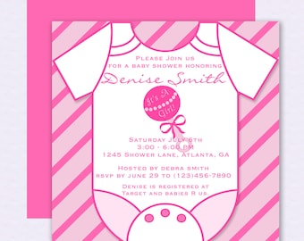 Diy do it yourself football jersey onesie baby shower diy do it yourself pink onesie baby shower invitation editable template stopboris Gallery