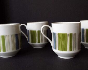 Four Mikasa Tropicana Coffee Cups Mugs