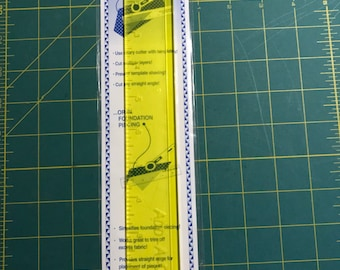 """12"""" Add-A-Quarter Ruler With 1/4"""" Lip, 1.5"""" Wide, Yellow"""
