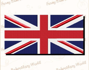 Flag of Great Britain EMBROIDERY DESIGN ,machine embroidery design,embroidery designs.Instant download,5 sizes,8 formats #1013-4