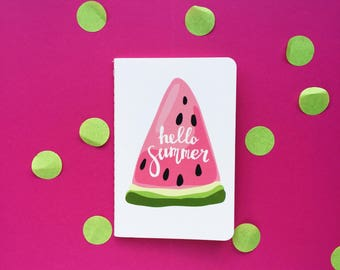 Hello summer A6 lined notebook