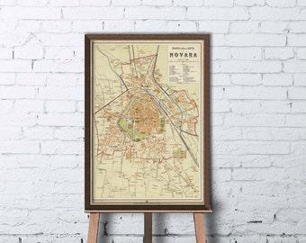 Novara map Etsy