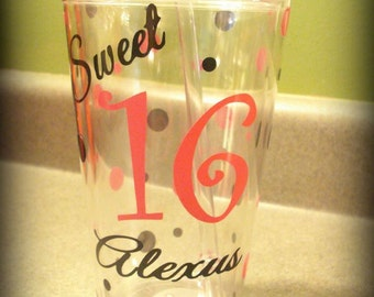 Sweet 16 gift, Sweet 16, Sweet 16 cup, Sweet 16 Birthday Gift, Sweet 16 Favors, Sweet Sixteen, Sweet Sixteenth Birthday Gift, I'm 16