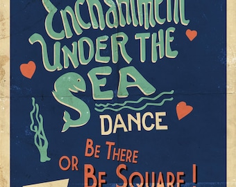 Back to the Future Enchantment Under the Sea Dance Retro Vintage A4 A3 A2 A1 Poster Print
