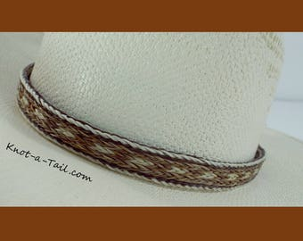 LONGMIRE hat band, horsehair hat band,  Cowboy horsehair hat band, No tassels, natural colors,  hat band, Western hat band, Rodeo hatband