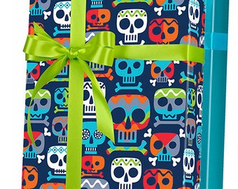 Zombie Skull Gift Wrap Wrapping Paper 15ft Roll