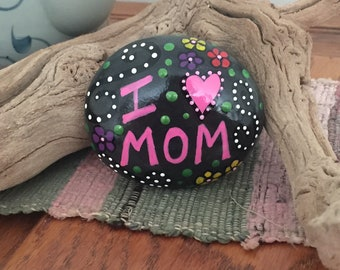 hand painted, river rock, inspirational, serenity, love, unique, Mother's Day
