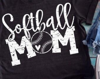 Softball svg, softball mom, ball mom svg, softball cutfile, svg file, softball shirt, softball clipart, softball mom svg, grunge svg