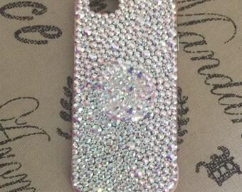 Rhinestoned iPhone Case with Rhinestoned Pop Socket.