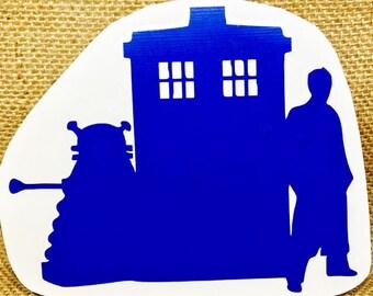 Dr Who Vinyl Decal sticker bbc tardis dalek