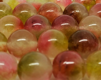 Multicolor Beads 12 mm Beads Agate Beads Watermelon Beads Agate Beads 12mm Round Beads Jewelry Beads Bracelets Necklace Beads Natural Beads