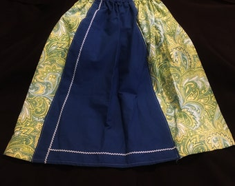 Blue and green kids skirt