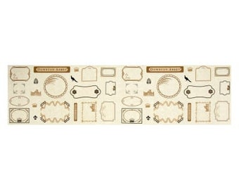 Downton Abbey The Downton Logos and Labels A-7670-L by Kathy Hall for Andover Fabrics -  100%  Cotton