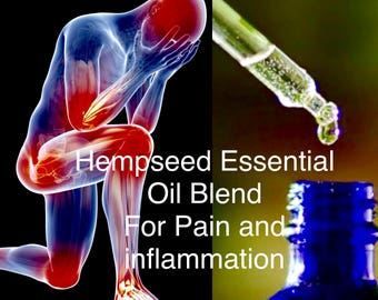 Hemp Seed Essential Oil - Inflammation and Pain Blend