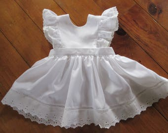 Girls pinafore dress,  Birthday Dress, sun dress, spring dress, available to order 12mos, 18mos 2T,3T,4T
