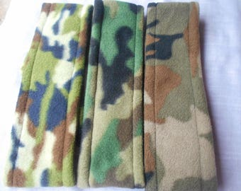 FLEECE HEADBANDS - Camouflage.   Mix and match with your outerwear.