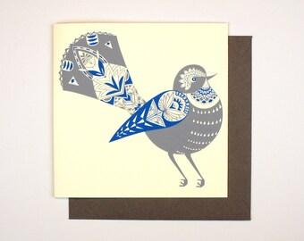 Greeting Card - Fantail Bird