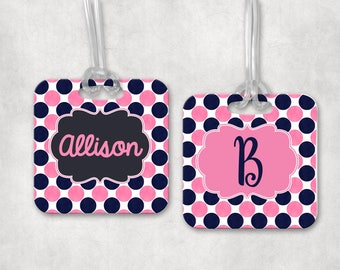 Monogram Luggage Tag | Personalized Bag Tag  |  Backpack Tag | Athletic Bag Tag | Custom Luggage Tag | Bag ID Tag | Personalized Gift
