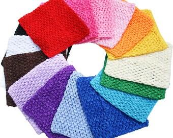 "7"" x 9"" Crochet Tube Top Tutu elastic Waistband Headband skirt hair band fashion designer makeup girls baby women attractive various colour"