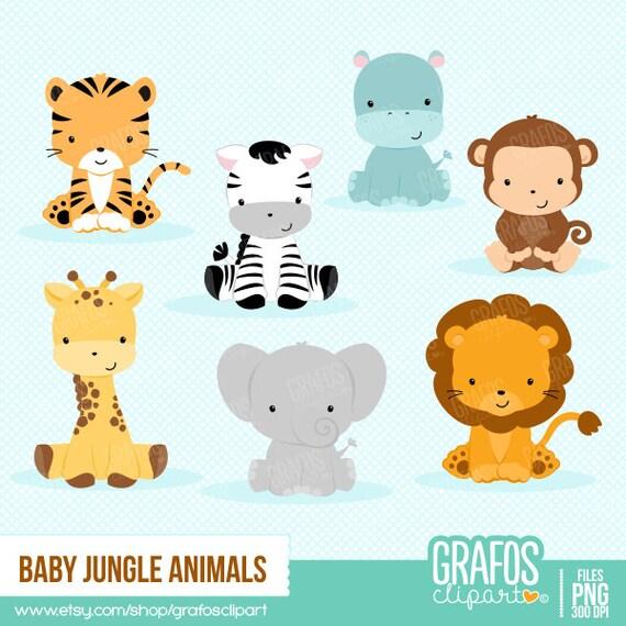 baby jungle animals digital clipart set animals clipart rh etsy com baby jungle animals clipart scriptures baby girl jungle animals clipart
