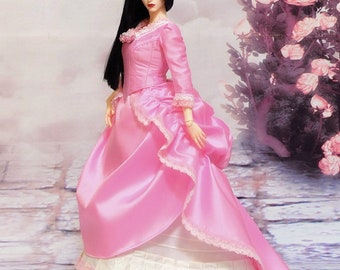 Iple FID - Lotus Pink Victorian ball gown dress set (outfit for Iplehouse FID woman)