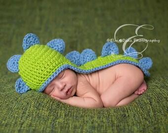 Baby Hat, Newborn Baby Dinosaur Hat, Crochet Baby Hat, Photography Prop, Newborn Size
