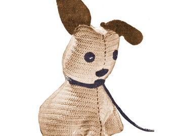 40s Crochet Dog Patterns, Crochet Soft Toy Patterns, Crochet Plushie Patterns, 1940s vintage toy patterns, Crochet Dog, Vintage Pattern PDF