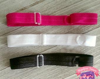 Adjustable Fold Over Elastic (FOE) Headband -  You Choose Color - Newborn headband - Adult headband - Girl headband - Toddler Elastic Band