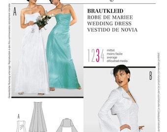 OUT of PRINT Burda Pattern 8320 Misses' Wedding Dress