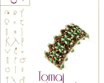 Bracelet  tutorial / pattern Tomaj with superduo beads ..PDF instruction for personal use only