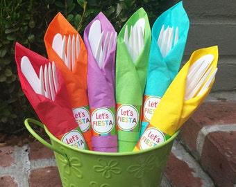 50% OFF SALE - Fiesta Napkin Rings Printable - Instant Download - Let's Fiesta Collection