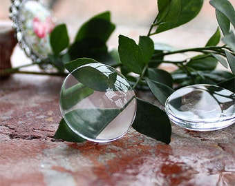 Round Clear Glass Cabochons 12mm