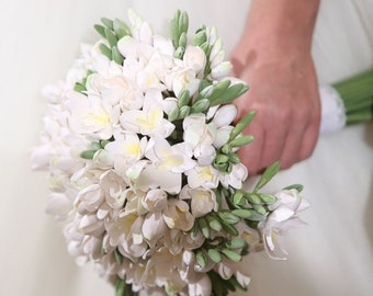 Freesia wedding bouquet