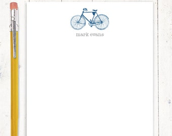 personalized notePAD - VINTAGE BOYS BICYCLE - men's bike - stationery - stationary - gift for boy - gift for man - choose color