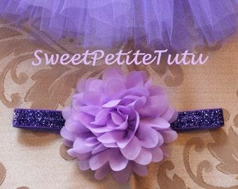 Lavender headband, Purple headband, Light purple headband, baby headband, Preemie headband, adult headband, newborn headband, flower