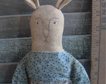 Primitive Folk Art Bunny Rabbit Doll