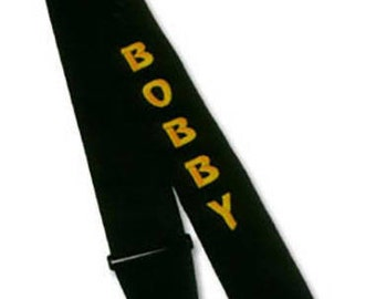 3 inch nylon Personalized Embroidered Guitar Strap