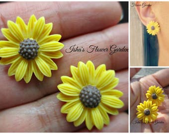 Black eyed susan earrings, wildflower earrings, wildflower accessories