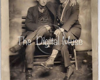 Affectionate Men Friends  Instant Download Vintage Photo