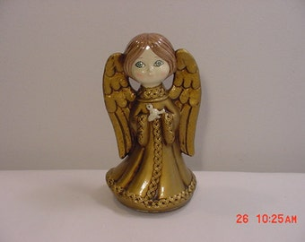 Vintage Musical Revolving Christmas Angel Plays Silent Night  16 - 298