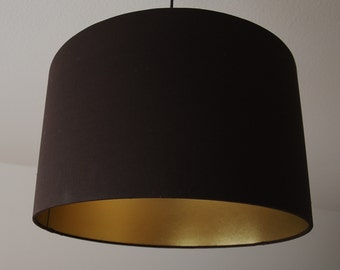 "Lampshade ""Brown-gold"""