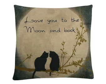 Cats love pillow cover!