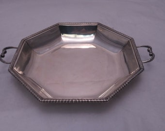 Tiffany & Co. Sterling Silver Octagonal 2-Handled Serving Dish