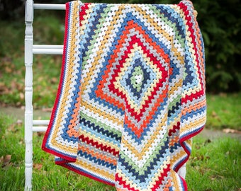 Luxury Baby Blanket - Multi colours - Merino Wool, Cashmere - Baby Gift - Ready to Ship, UK Seller